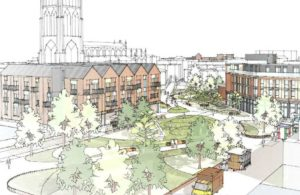 Artists impression of the town centre improvements